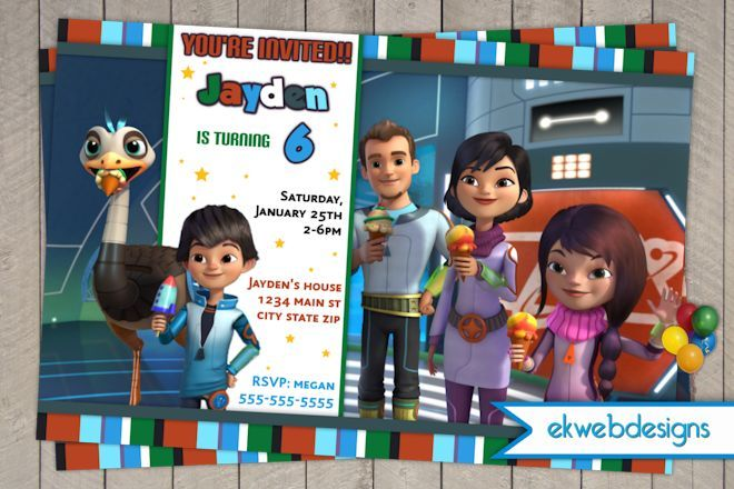 Miles From Tomorrowland Birthday Invitations- Disney Junior