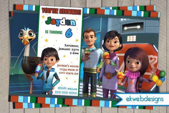 Miles From Tomorrowland Birthday Invitations- Disney Junior
