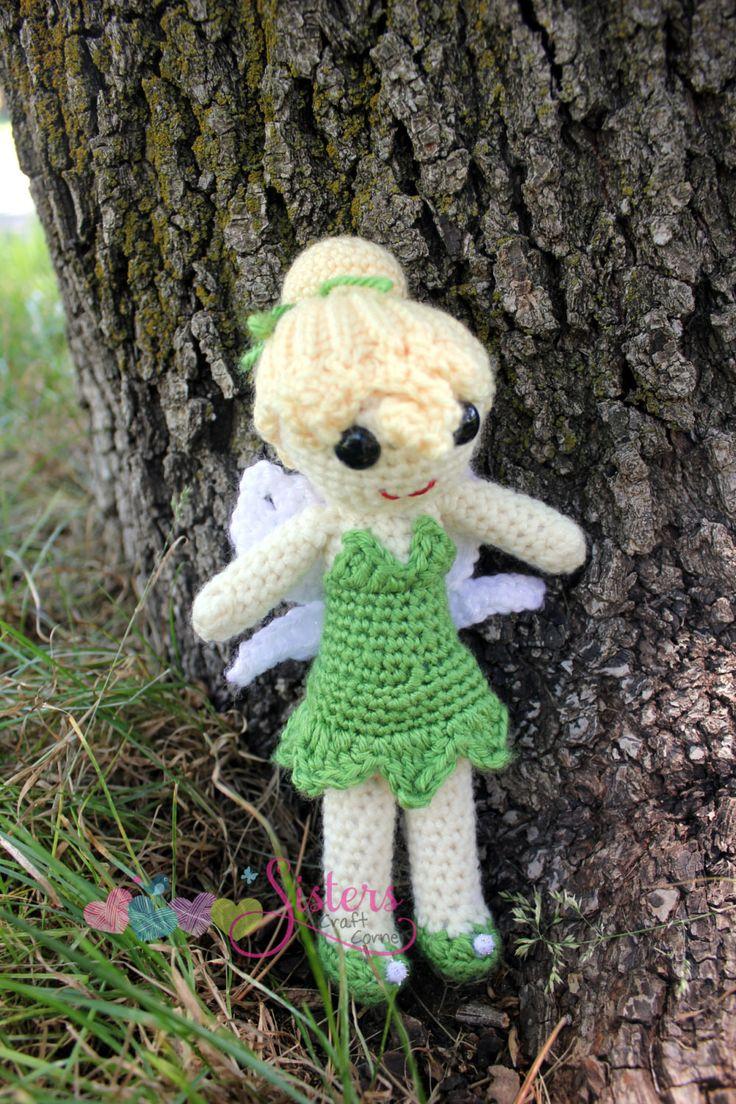 Crochet Fairy Doll - Tinkerbell Doll - Tinker Fairy Doll - Handmade Doll - Amigurumi - Peter Pan - Pixie - Crocheted Fairy - Crocheted Doll