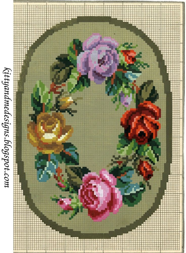 small Victorian woolwork pattern