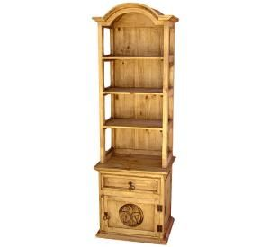 Texas Star Bookshelf | Rustic Furniture   Mexican Rustic Pine Bookcase With  Star Cabinet