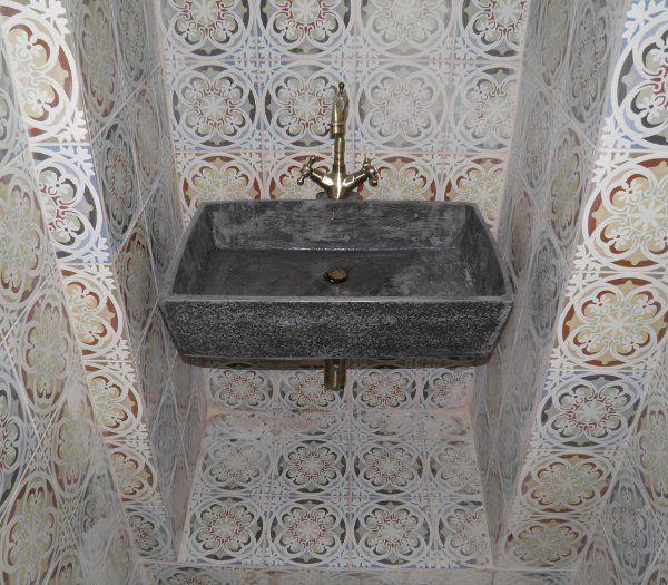Handmade sink Myronas Black Dimensions 60 x 40 x 13.5cm.