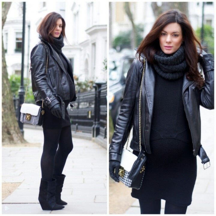 Maternity chic look