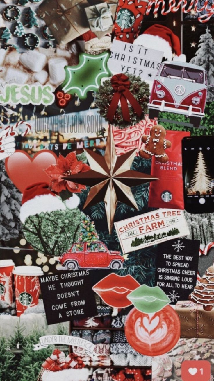 Pinterest chloechristner Christmas collage
