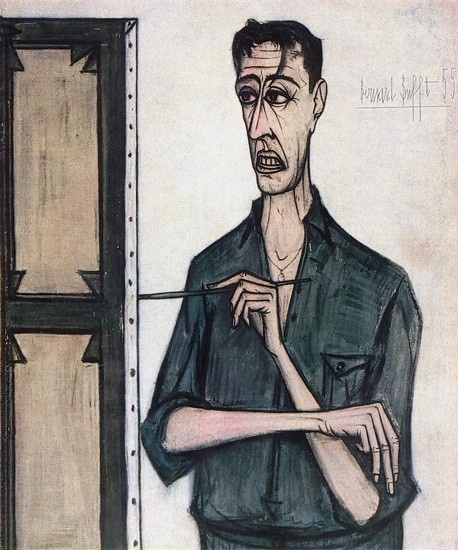 Bernard Buffet, Autoportrait, 1955                                                                                                                                                                                 Plus