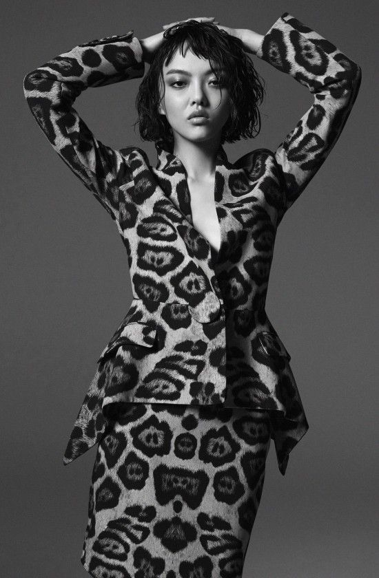 Rila Fukushima wears Givenchy Resort for Harper's Bazaar Kazakhstan February 2016 by Yuji Watanabe [fashion]