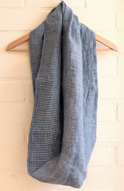 The Drapery: Twelve Days of Handmade Christmas - Day 3: Linen Scarf. Kids sewing, easy holiday project. Beginners hand sewn lovely gift!