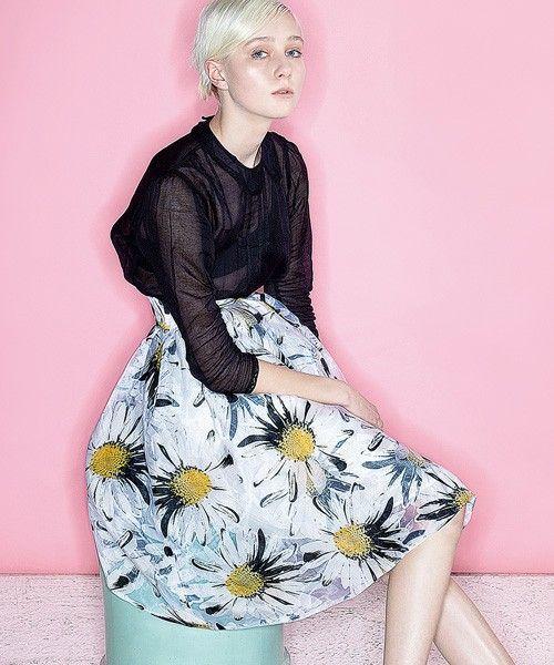 RANDA CLOTHING(ランダ クロージング)のミモレ丈ボリュームスカート(スカート)|その他
