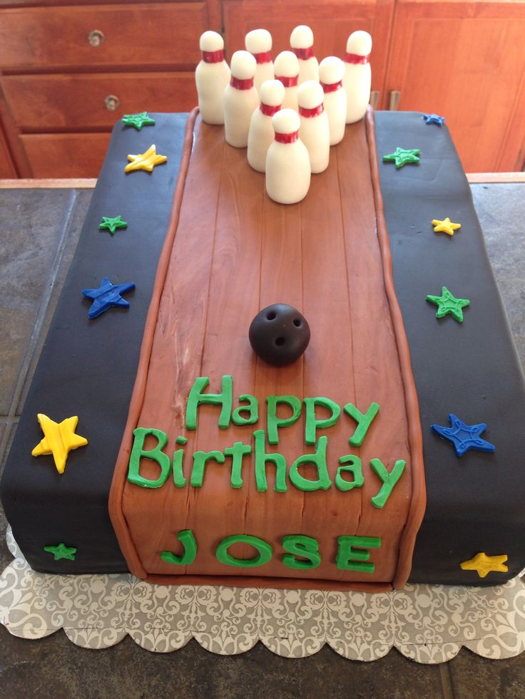 Bowling cake www.facebook.com/marcyscreations88