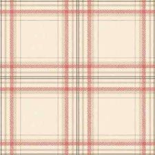 Tartan - Plaid - Check - Red / Linen - Highland - Wallpaper