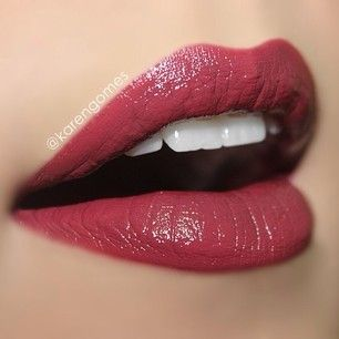I don't wear lipstick but this color is reeeeally pretty...Extra Creamy Round Lipstick Black Cherry by Nyx