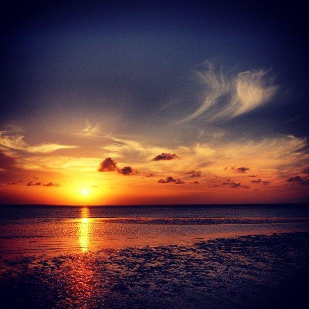 Photo from the Instacanvas gallery of jotheorin.  A wonderful sunset looking towards east from the Michamvi peninsula - Unguja island - Zanzibar