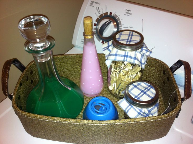 Repurpose containers for your laundry room ingredients!