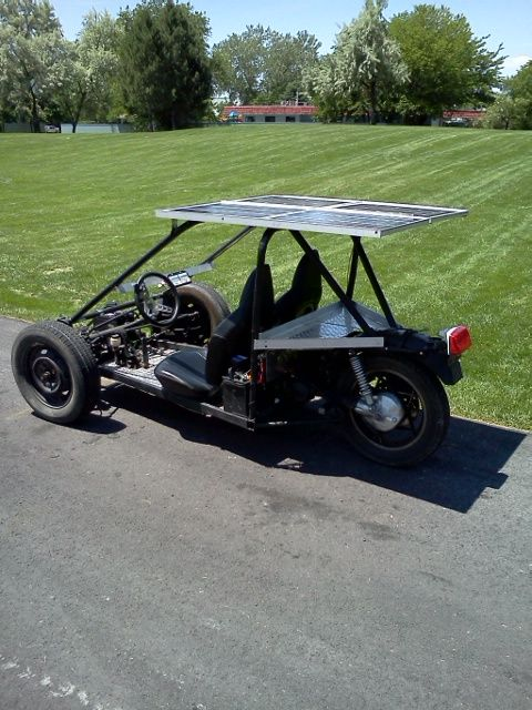 Drive up to 40 miles a day on pure sunlight. Solar Electric Reverse Trike