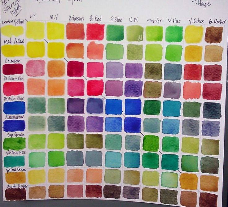 Acrylic Color Mixing Chart Printable