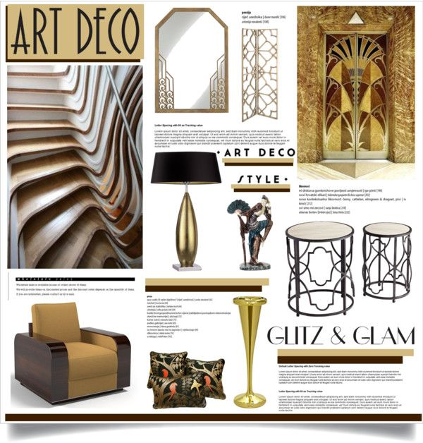 "22 Best Art Deco Interior Design Ideas For Living Room: ""Glitz & Glam: Art Deco"" By Dedeata On Polyvore"