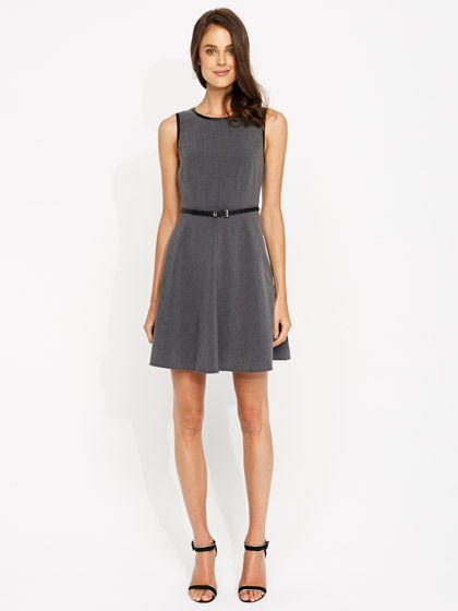 Image for Amelia Pu Trim Dress from Portmans