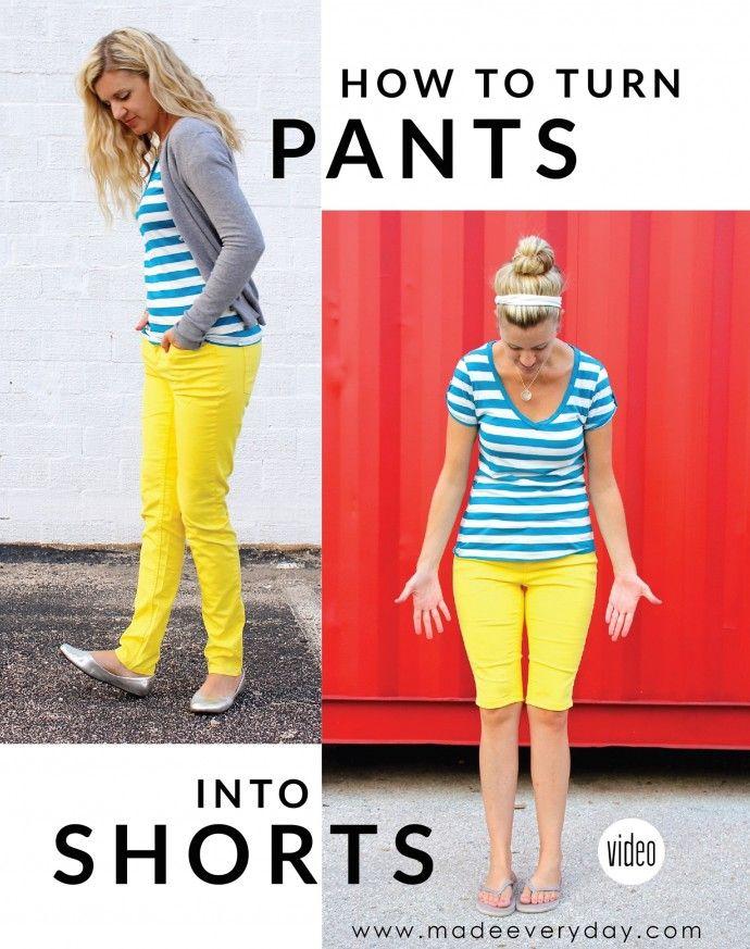 Comment transformer un pantalon en short et comment ourler tous les types de pantalons sur MADE tous les jours avec Dana Willard
