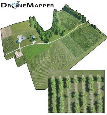 DroneMapper Precision Agriculture and Imagery Example Data | Drone Mapper Imagery Processing