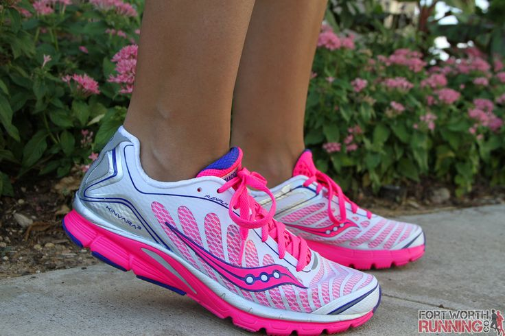 My first pair of Saucony's. I sure did run the heck outta them. Women's Saucony Kinvara 3 - minimal running shoes.