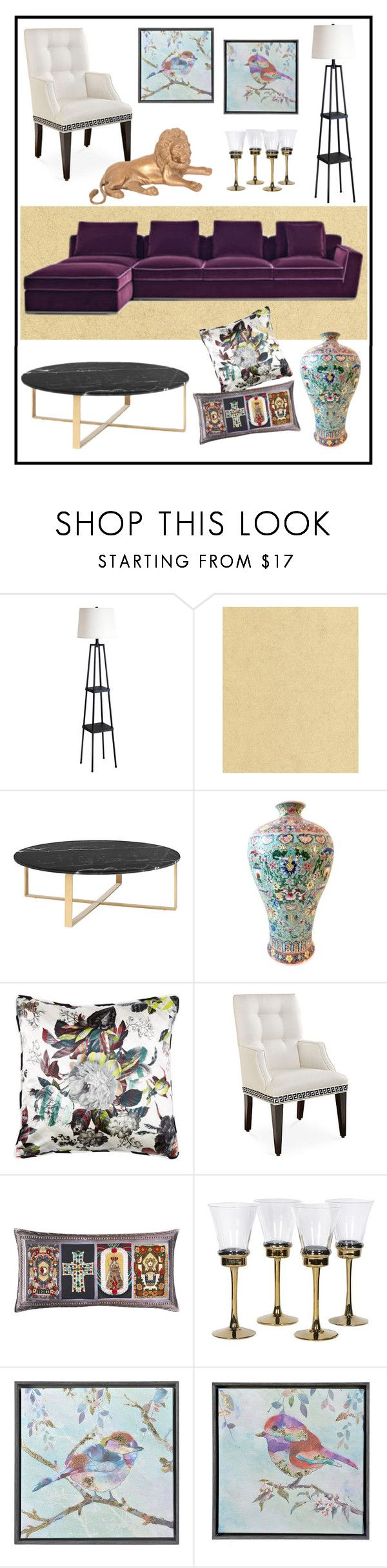 """""""DESIGN AT LIVING ROOM!!!!"""" by kskafida ❤ liked on Polyvore featuring interior, interiors, interior design, home, home decor, interior decorating, Catalina, Graham & Brown, Christian Lacroix and Joe Ruggiero Collection"""