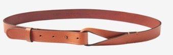 Toast - Dark Tan Leather Loop Belt