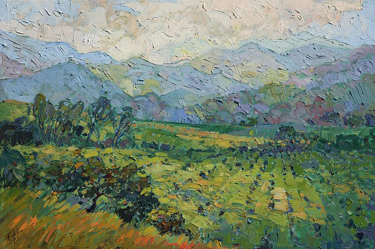 Morning Mist Painting by Erin Hanson