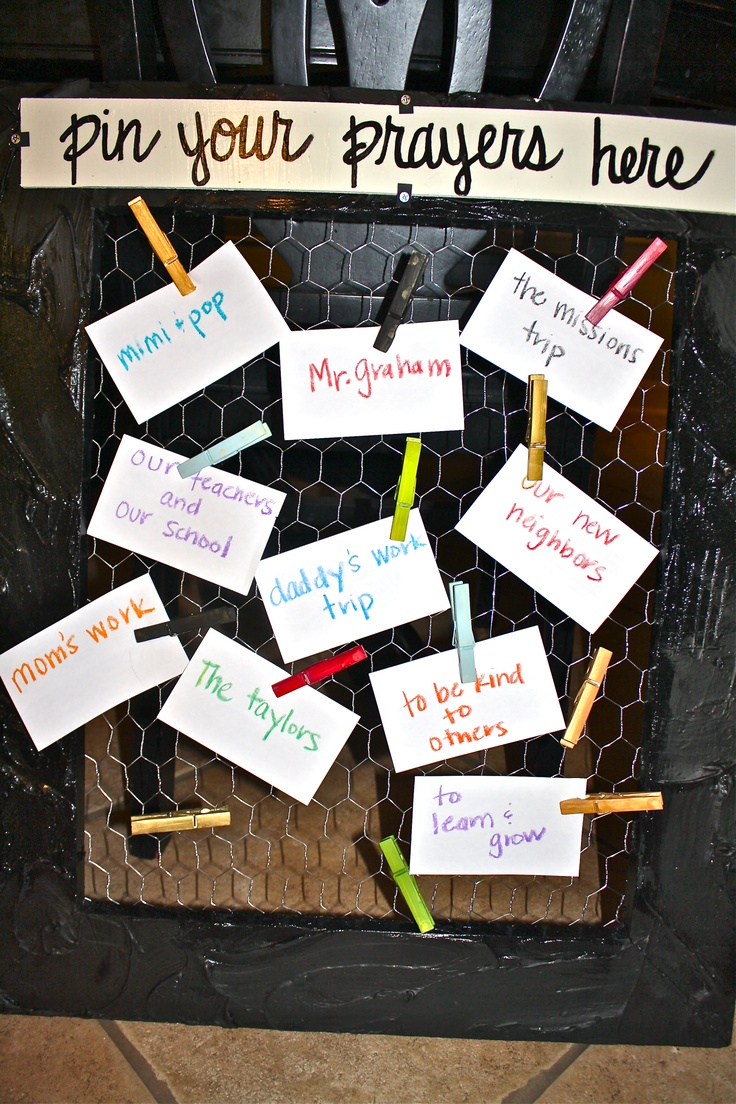 The prayer board is interchangeable with these other boards, or whatever you come up with!