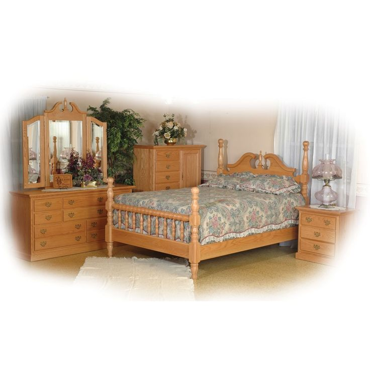 amish handcrafted castle bedroom set