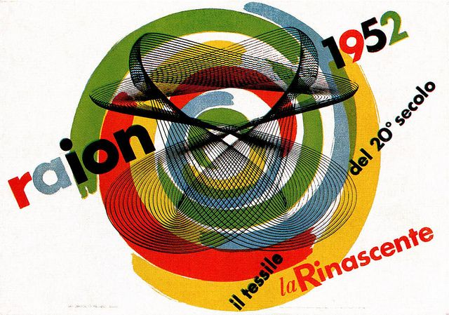 Max Huber, advertising poster for Italian department store, la Rinascente, 1955.