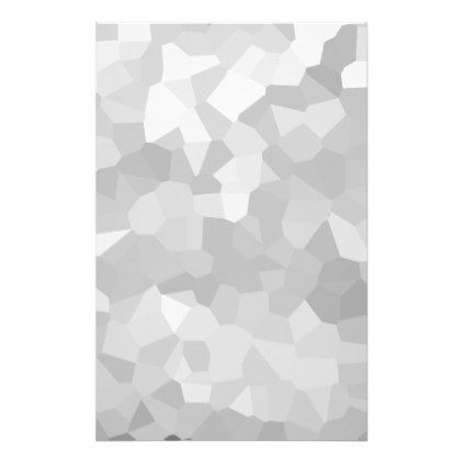 Modern - Gray and White Polygon Shape Abstract Stationery - college dorm gifts student students accessories freshmen