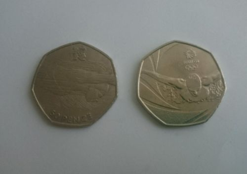 2 x rare 50p #coins - 1 x 2016 #olympic #swimming & 1 × 2012 #olympic #swimming,  View more on the LINK: 	http://www.zeppy.io/product/gb/2/162292788660/