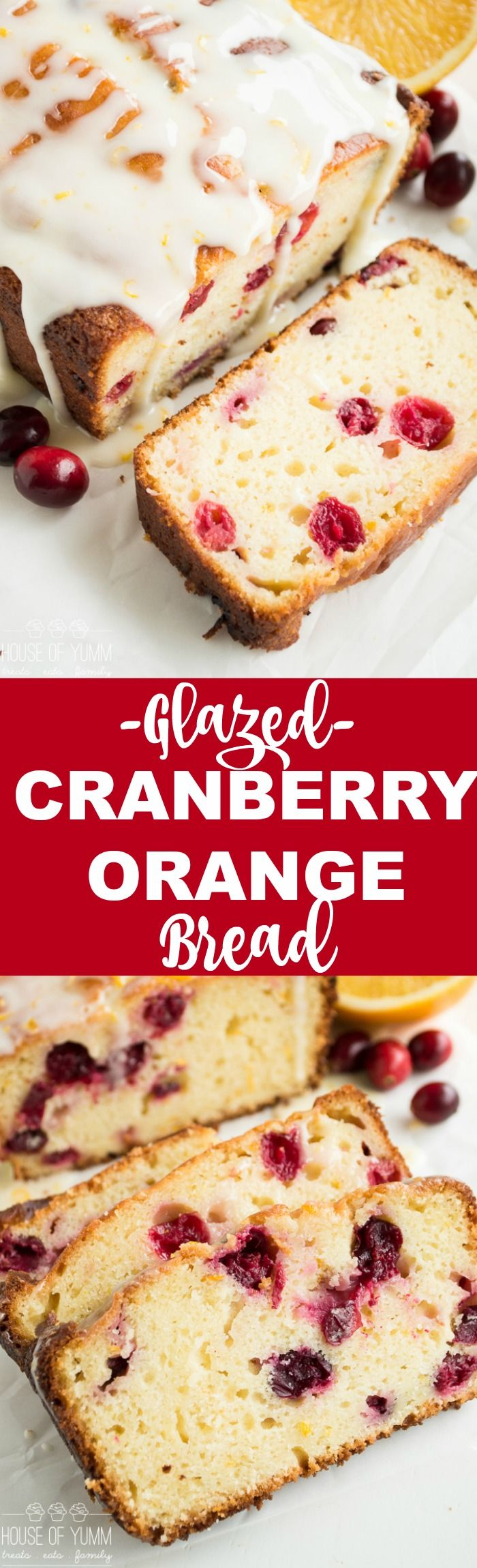 Super moist Cranberry Orange Bread drizzled with an orange zest glaze, bursting with tart cranberries. Made using fresh orange juice and greek yogurt! This bread is always a hit!! This Glazed Cranberry Orange Bread is almost like a pound cake. It's so tender and moist thanks to the combination of cooking with oil and Greek...Read More »