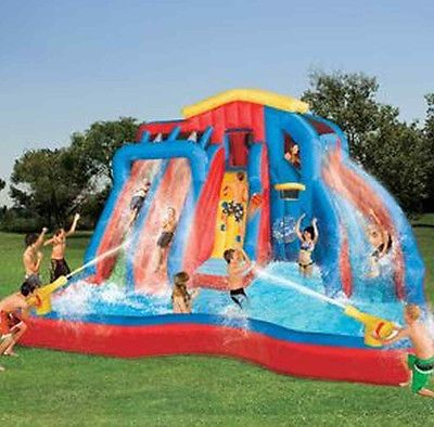 They are widely used in kindergarten, amusement Bounce Time Manufactured commercial inflatable water slides, water parks and bounce house combos with water slides for sale. Description from poollslides.com. I searched for this on bing.com/images