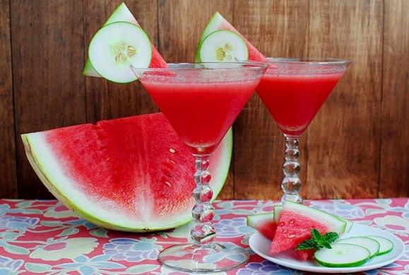 cucumber-watermelon martini