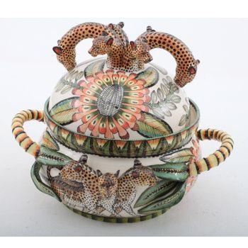 Ardmore Ceramics: Leopard Tureen