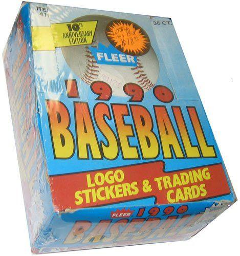 1990 Fleer Baseball Cards Box (36 packs/box, possible Sosa Rookie!) [Toy]