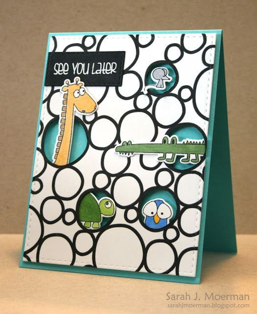 So stinkin cute! See You Later card by Sarah Moerman.