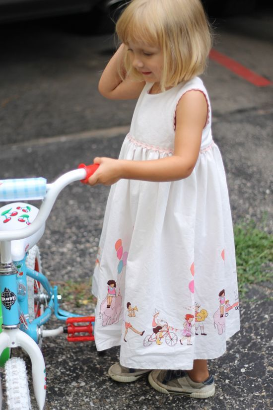 Awesome fabric and birthday dress from Made By Rae