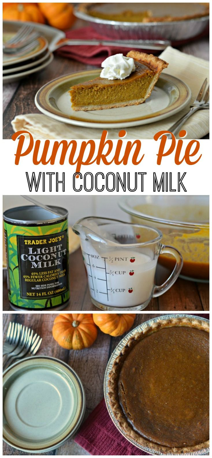 Looking for a dairy-free pumpkin pie filling? This pumpkin pie with coconut milk is perfect for those who are dairy-free or who just don't have condensed milk in the pantry!