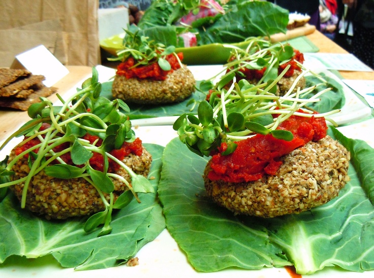 The raw, vegan nut burgers that are so good they would even convert a carni.  One of my top 3 fave Earth & City foods.