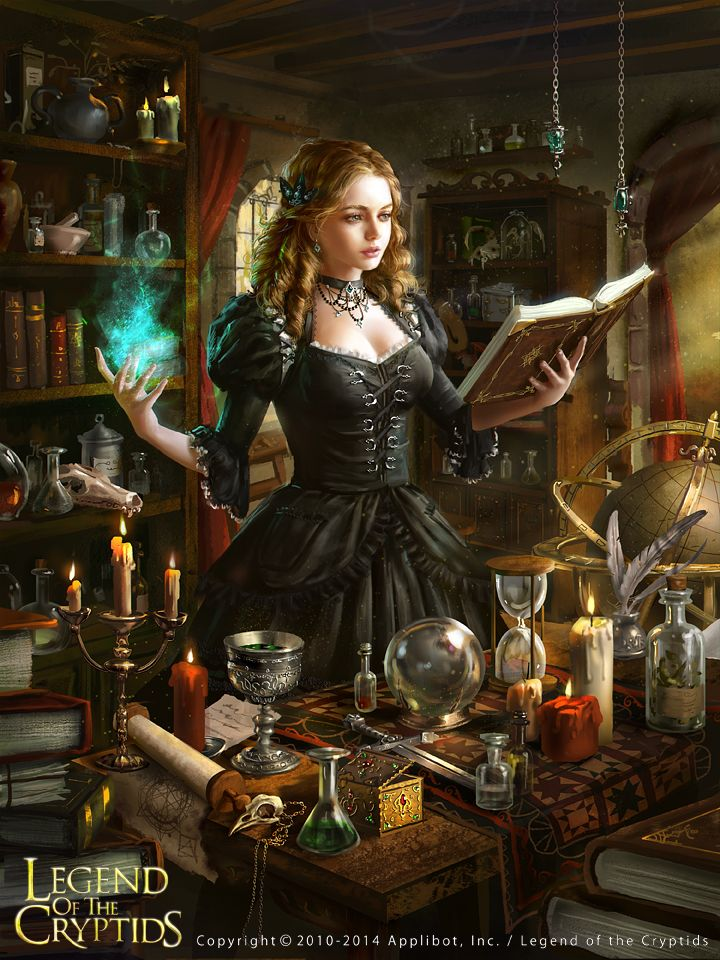 Legend of the Cryptids by anotherwanderer female wizard witch soceress player character npc