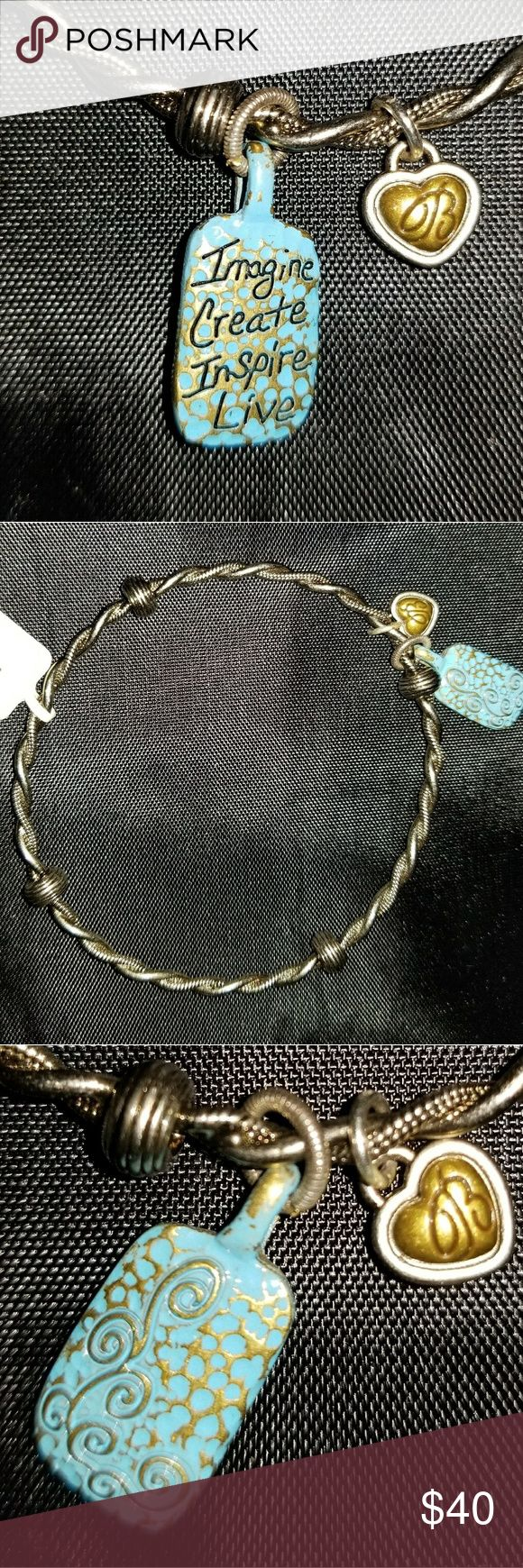 🔖NWT BRIGHTON ART & SOUL Brighton Silver Art & Soul Charm BRACELET. Brand New with tag. Brighton Jewelry Bracelets