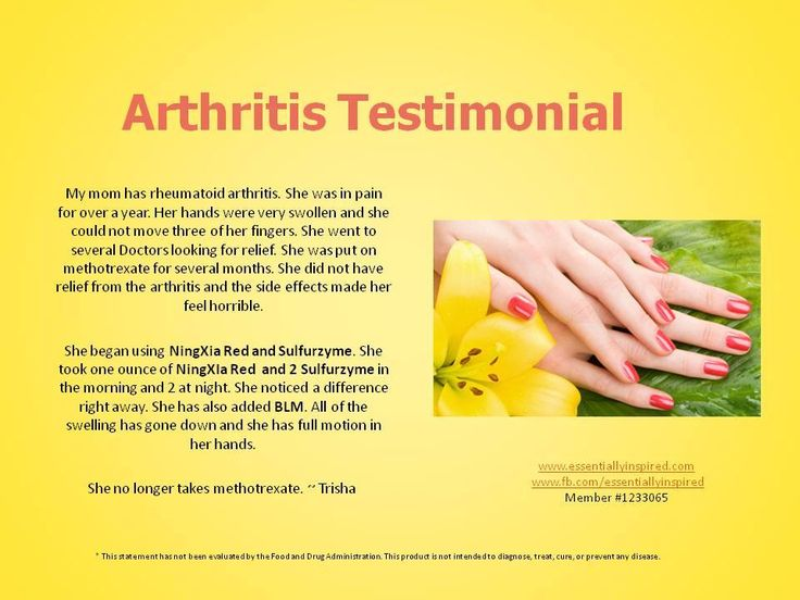 8 Best Images About Young Living Arthritis On Pinterest