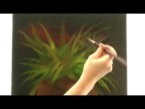 Olejomalba - slunečnice (malování na mokré plátno) Jana Laštovičková Grygarová - YouTube