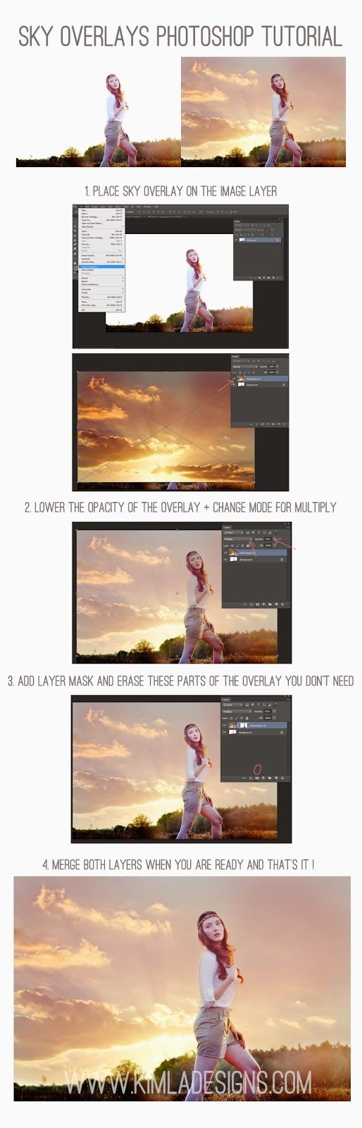 KIMLA DESIGNS: English Sky Overlays Photoshop Tutorial