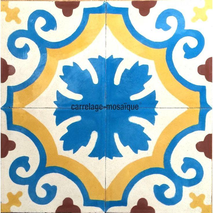 17 best images about carreaux ciment on pinterest vienna wood mantle and tile - Carreaux ciment maroc ...