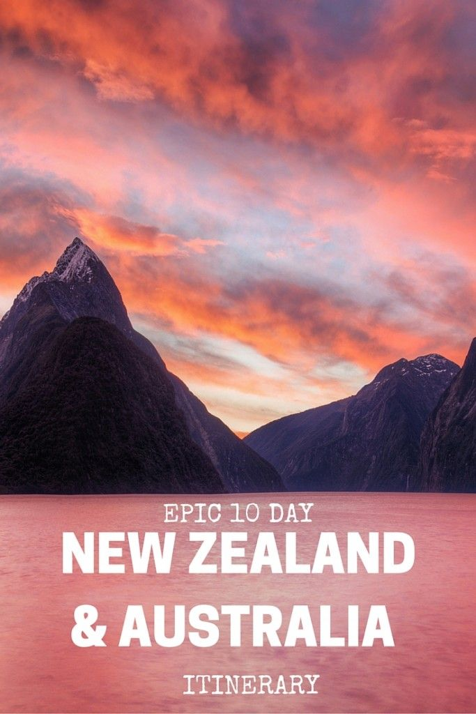 Epic 10 Day New Zealand & Australia Itinerary. Click the pin to read the post from www.flirtingwiththeglobe.com