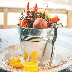 Navy Beach Restaurant MONTAUK Start with a dark-and-stormy at the rustic bar. Outside, on the 200 feet of private beach, relax on a lounger as you devour crispy calamari with piquant chili-garlic dressing. Then choose a picnic table or an indoor banquette