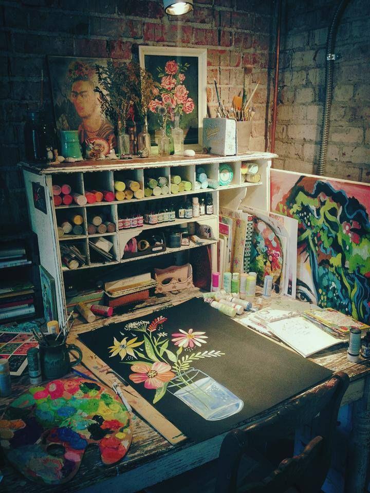 ...10 Inspirational Art Studios --Carmen Whitehead Designs...